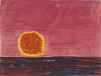 ringed sun by milton avery
