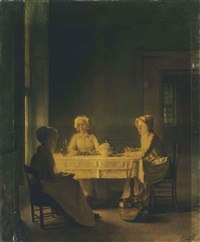 servants lunching by joseph bail