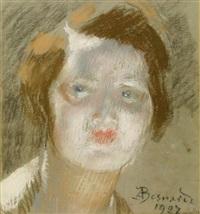 portrait de jeune fille by albert besnard