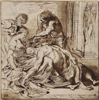 samson and delilah (double-sided) by sir peter paul rubens