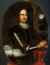 portrait d'homme en armure by french school (17)
