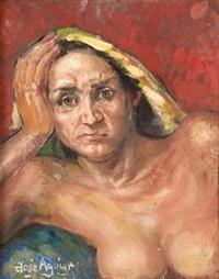 desnudo femenino y retrato by jose aguiar garcia