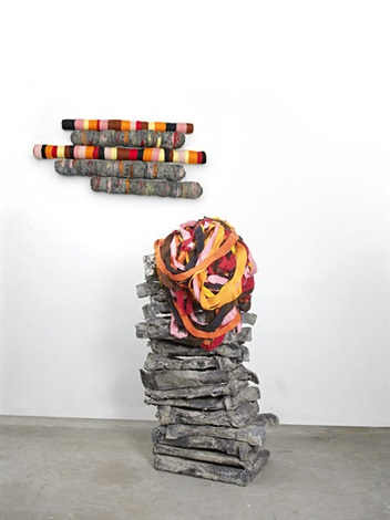 untitled crushedrolleddropped by phyllida barlow