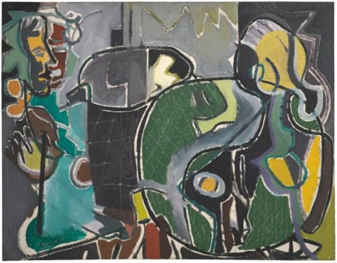 two women in café by patrick heron