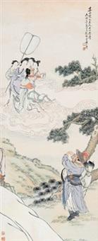 大富贵亦寿考 立轴 设色纸本 by huang shanshou