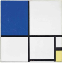 composition no. ii with blue and yellow by piet mondrian