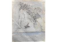 rocks above a river by john ruskin