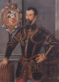 portrait of sir william herbert, k.g. 1st earl of pembroke by steven van der meulen