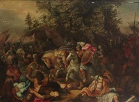 combat de cavaliers by hendrick de clerck