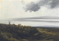 paysage au moulin by georges michel