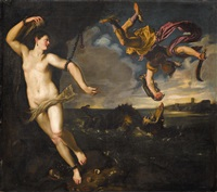 perseus befreit andromeda by titian (tiziano vecelli)