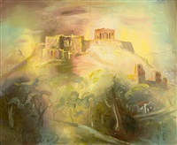 view of the acropolis by giorgios (gounaro) gounaropoulos