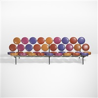 rare and important marshmallow sofa by george nelson & associates