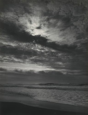 sundown pacific ocean northern california coast pacific ocean sunset california by ansel adams