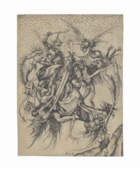 the tribulations of saint anthony by martin schongauer