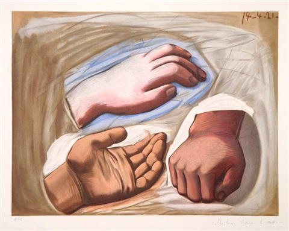 etude de main by pablo picasso