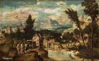 christus auf dem weg nach emmaus by lucas gassel