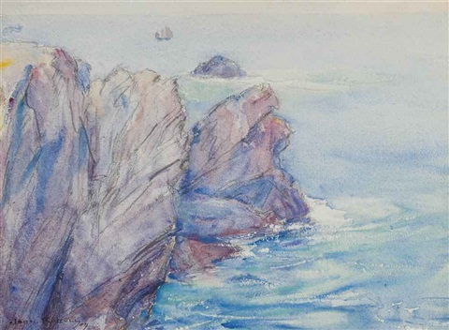 belle-ile-en-mer (recto); belle-ile-en-mer (verso) by john peter russell