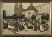 cracow market by johann nepomuk geller