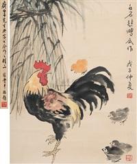 untitled by xu beihong and qi baishi