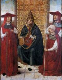 el cardenal don pedro de mendoza orando ante san pedro by hispano-flemish school (15)