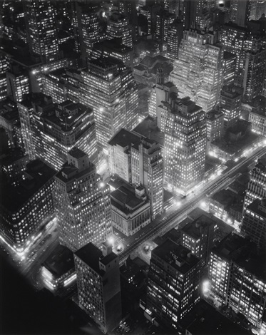 new york at night by berenice abbott