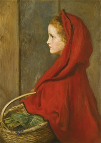 red riding hood by sir john everett millais