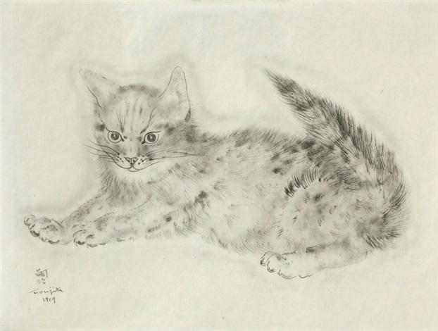 avichail (from a book of cats) by léonard tsuguharu foujita