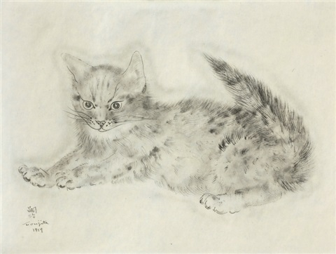 avichail from a book of cats by léonard tsuguharu foujita
