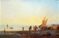 le retour des pêcheurs by paul bistaagne
