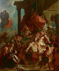le triomphe de trajan by eugène delacroix
