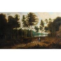 personnages dans un paysage boisé by david teniers the younger and lucas van uden