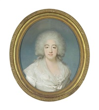 portrait of marie-joséphine-louise de savoie, comtesse de provence by joseph boze