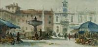 udine, mattino in piazza san giacomo by bepi liusso
