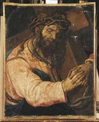 le christ portant sa croix by romanino (girolamo romani)
