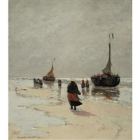 scheveningen beach, holland by gerhard arij ludwig morgenstjerne munthe