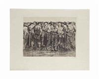 die gefangenen, from: bauernkrieg by käthe kollwitz