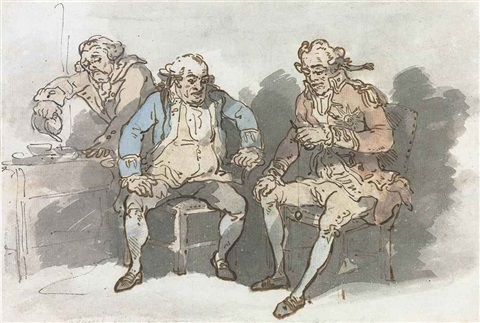 sea amusement or commanders in chief of cup and ball on cruise by thomas rowlandson