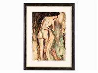 female nude from the back by christian rohlfs