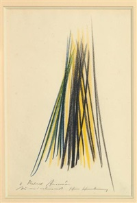 composition abstraite by hans hartung