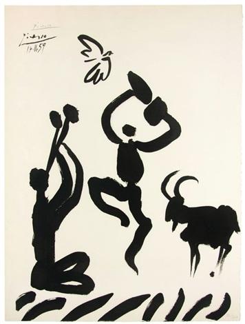 danseur et musicien by pablo picasso
