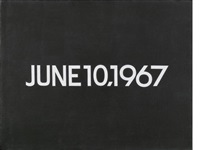 june 10, 1967 (from today series, no.101) by on kawara