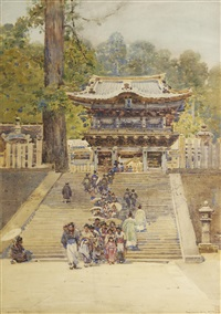yomeiman gate, nikko, japan by robert weir allan