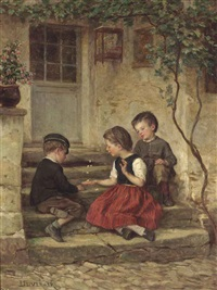 playing jacks by théophile emmanuel duverger