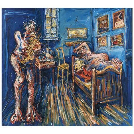 Visitación de las beboperas al cuarto de Van Gogh von Jazzamoart auf ...
