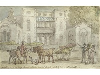 vanbrugh's house in whitehall court by thomas rowlandson