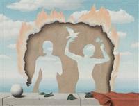 mesdemoiselles de l'isle adam by rené magritte