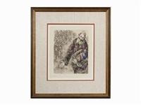 joshué lit les paroles de la loi by marc chagall
