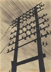 frankfurt, telegraph pole by ilse bing