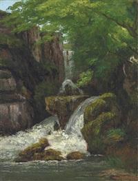 falaises et cascades by gustave courbet